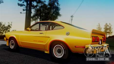 Ford Mustang King Cobra 1978 para GTA San Andreas interior