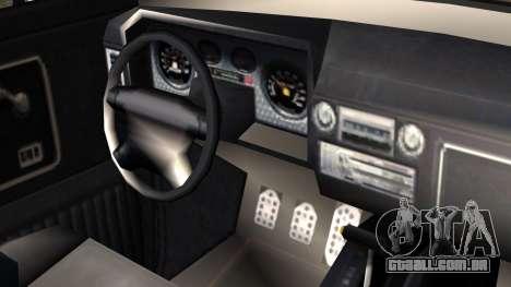 GTA 5 Vapid Slamvan Pickup IVF para GTA San Andreas vista direita