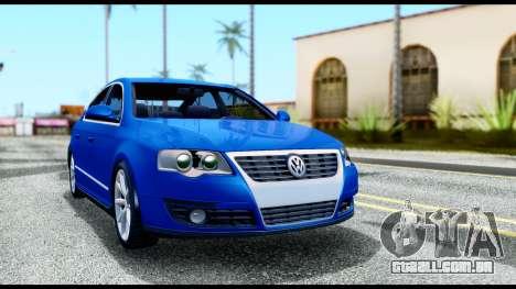 Volkswagen Passat B6 para GTA San Andreas esquerda vista