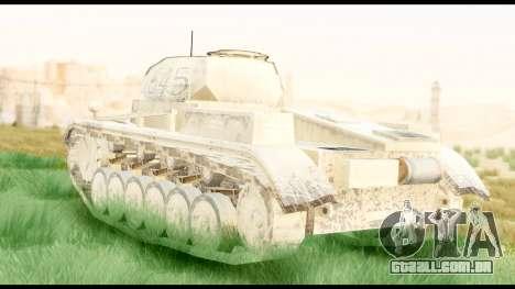 Panzerkampwagen II Desert para GTA San Andreas esquerda vista