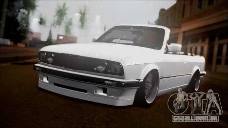 BMW E30 Cabrio B. O. Construção para GTA San Andreas vista traseira