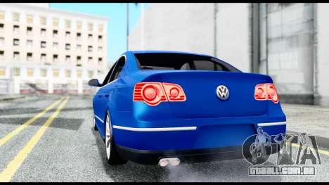 Volkswagen Passat B6 para GTA San Andreas traseira esquerda vista