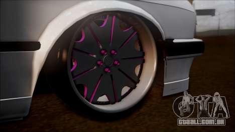 BMW E30 Cabrio B. O. Construção para GTA San Andreas traseira esquerda vista