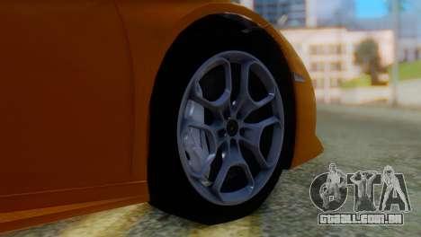 Lamborghini Huracan 2015 Horizon Wheels para GTA San Andreas traseira esquerda vista