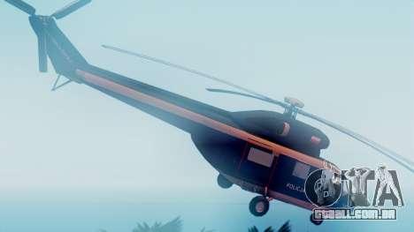 PZL W-3A Sokol para GTA San Andreas traseira esquerda vista