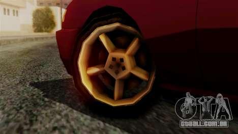 Flash New Edition para GTA San Andreas traseira esquerda vista