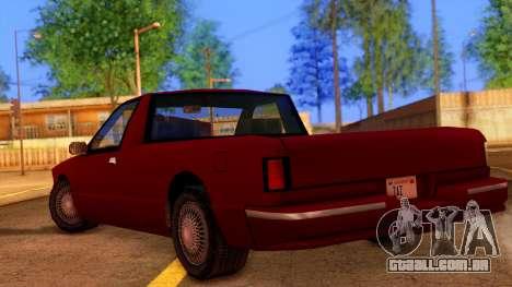 Premier Pickup para GTA San Andreas esquerda vista