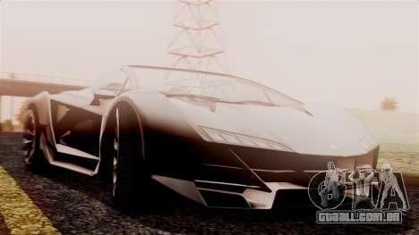Pegassi Zentorno Cabrio v2 para GTA San Andreas traseira esquerda vista