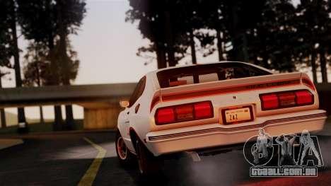 Ford Mustang King Cobra 1978 para GTA San Andreas vista direita