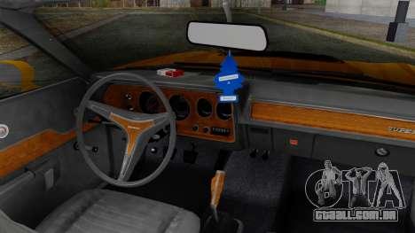 Dodge Charger Super Bee 426 Hemi (WS23) 1971 para GTA San Andreas traseira esquerda vista