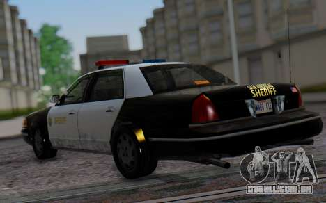 Ford Crown Victoria Sheriff para GTA San Andreas esquerda vista