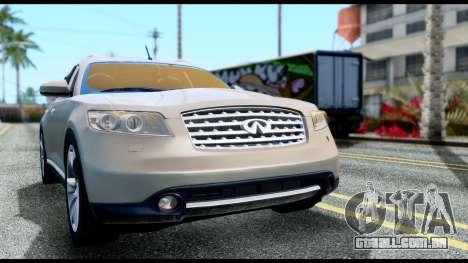 Infiniti FX45 para GTA San Andreas vista direita
