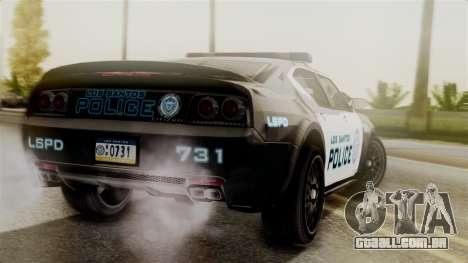 Hunter Citizen from Burnout Paradise Police LS para GTA San Andreas esquerda vista