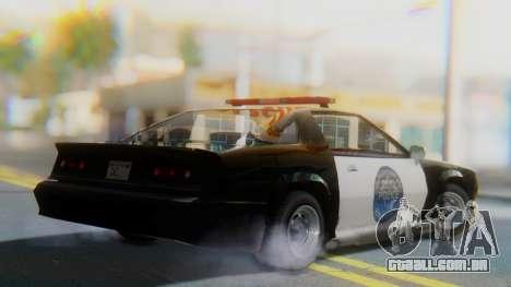 Buffalo Sheriff para GTA San Andreas esquerda vista