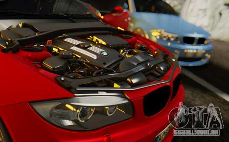 BMW 1M E82 para vista lateral GTA San Andreas