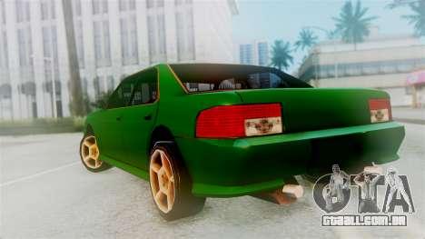 Sultan New Edition para GTA San Andreas esquerda vista