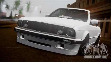 BMW E30 Cabrio B. O. Construção para GTA San Andreas