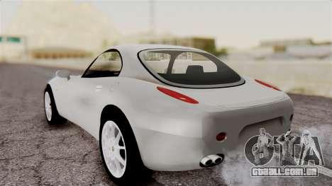 Alfa Romeo Nuvola para GTA San Andreas traseira esquerda vista