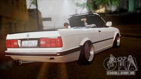 BMW E30 Cabrio B. O. Construção para GTA San Andreas esquerda vista