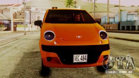 Daewoo Matiz Taxi para GTA San Andreas vista direita