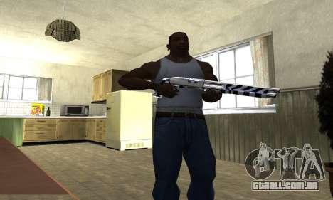 Black Lines Shotgun para GTA San Andreas terceira tela