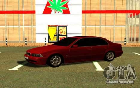 BMW 540i E39 para GTA San Andreas traseira esquerda vista