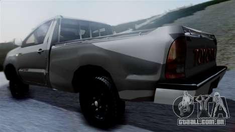 Toyota Hilux 2015 para GTA San Andreas esquerda vista