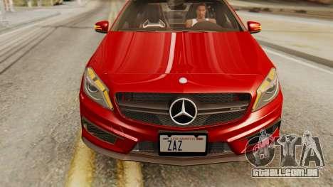 Mercedes-Benz A45 AMG 2012 para GTA San Andreas vista direita
