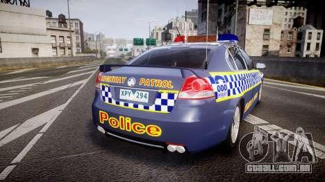 Holden VE Commodore SS Highway Patrol [ELS] v2.1 para GTA 4 traseira esquerda vista