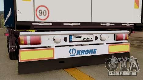Trailer Krone Profiliner v1 para GTA San Andreas vista traseira