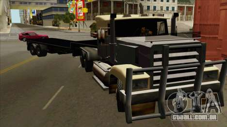 Flat Trailer para GTA San Andreas traseira esquerda vista