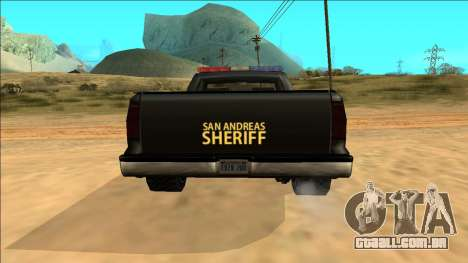 New Yosemite Police v2 para GTA San Andreas vista superior