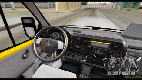 Gazela 3221 2007 Final para GTA San Andreas vista traseira