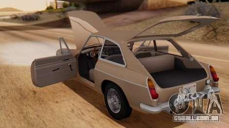 MGB GT (ADO23) 1965 HQLM para GTA San Andreas vista interior