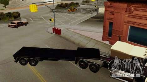 Flat Trailer para GTA San Andreas esquerda vista