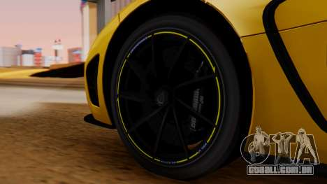 Koenigsegg Agera 2011 para GTA San Andreas traseira esquerda vista