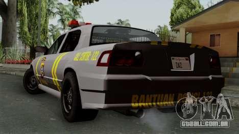 Indonesian Police Type 1 para GTA San Andreas esquerda vista