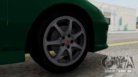 Acura Integra Fast and Furious para GTA San Andreas traseira esquerda vista