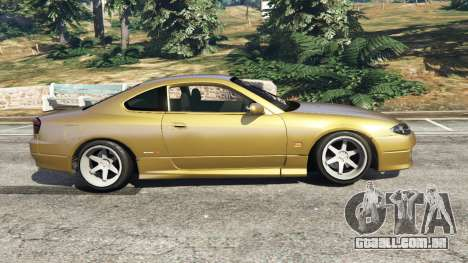 GTA 5 Nissan Silvia S15 (Wide & Camber) v0.1 vista lateral esquerda