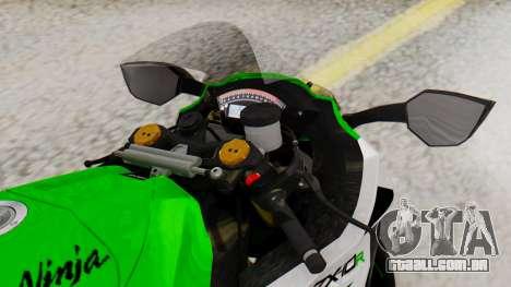Kawasaki ZX-10R 2015 30th Anniversary Edition para GTA San Andreas vista direita