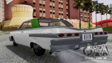 GTA 5 Declasse Voodoo para GTA San Andreas esquerda vista