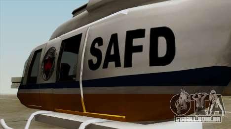 Rain Dance Maverick para GTA San Andreas vista traseira