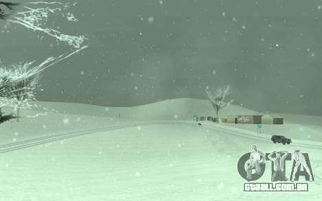 Inverno Timecyc para GTA San Andreas terceira tela