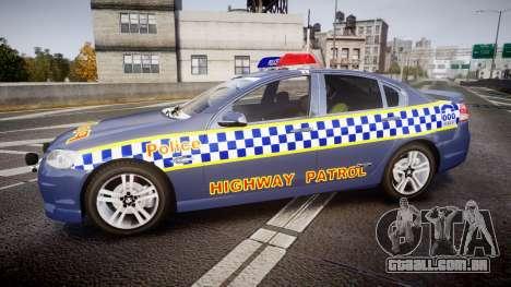 Holden VE Commodore SS Highway Patrol [ELS] v2.1 para GTA 4 esquerda vista