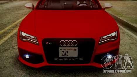 Audi RS7 2014 para GTA San Andreas interior
