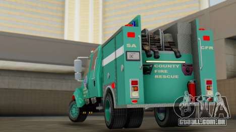 SACFR International Type 3 Rescue Engine para GTA San Andreas esquerda vista