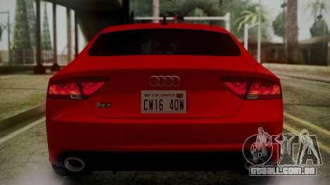 Audi RS7 2014 para as rodas de GTA San Andreas