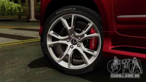 Lexus GX460 2014 v2 para GTA San Andreas traseira esquerda vista