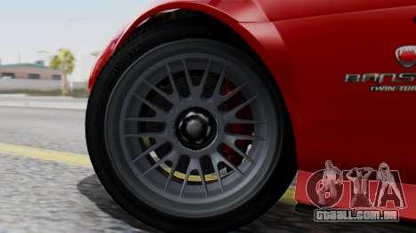 GTA 5 Banshee Dirt para GTA San Andreas traseira esquerda vista