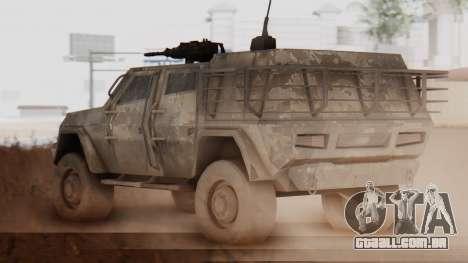 BAE Systems JLTV Extra Skin para GTA San Andreas traseira esquerda vista